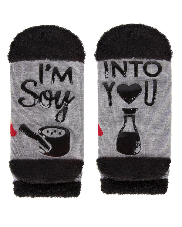 I'm Soy Into You Low Cut Socks | Socks By MeMoi®  | MLV05685 | Medium Gray 1