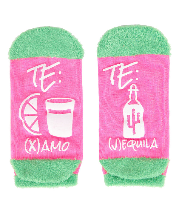Te Amo Tequila Low Cut Socks | Socks By MeMoi®  | MLV05686 | Sangria 1