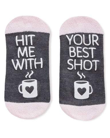 Coffee Drinker Fuzzy Low Cut Socks