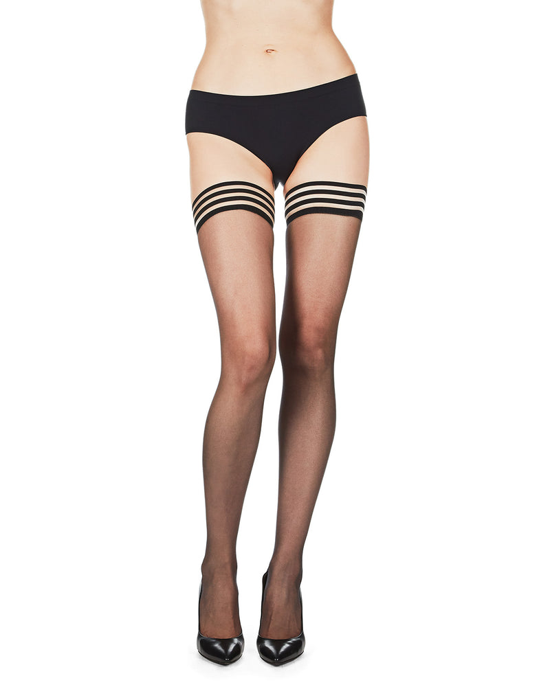 MeMoi Simply Bare Lace Top Thigh-High Stockings