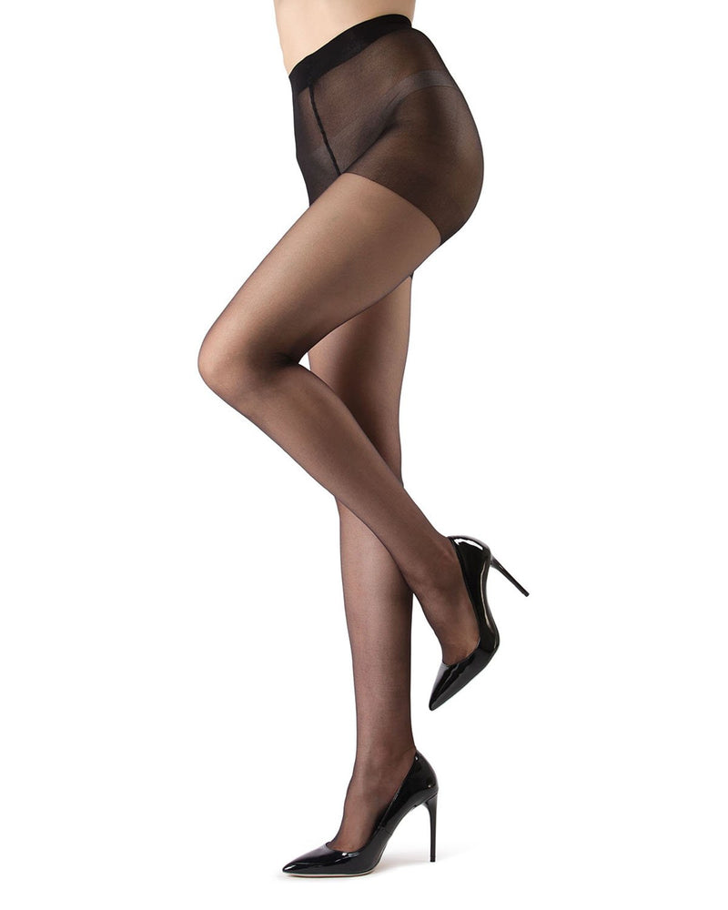 Ultra Sheer Control Top Pantyhose | Women's Sheer Tights by MeMoi® | Womens Clothing | Black MM-200