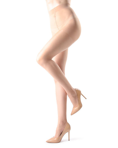 Ultra Sheer Control Top Pantyhose | Women's Sheer Tights by MeMoi® | Womens Clothing | Beach Sand MM-200