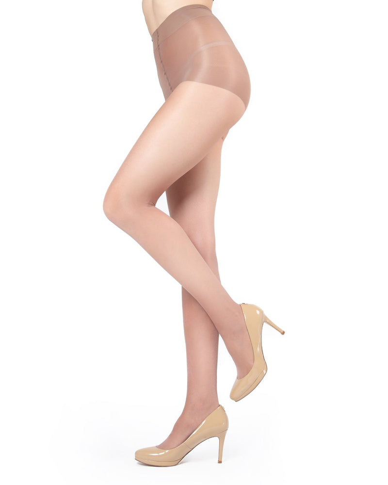 Shimmer Sheer Control Top Tights Pantyhose - Hosiery - Tights | Honey MM 211