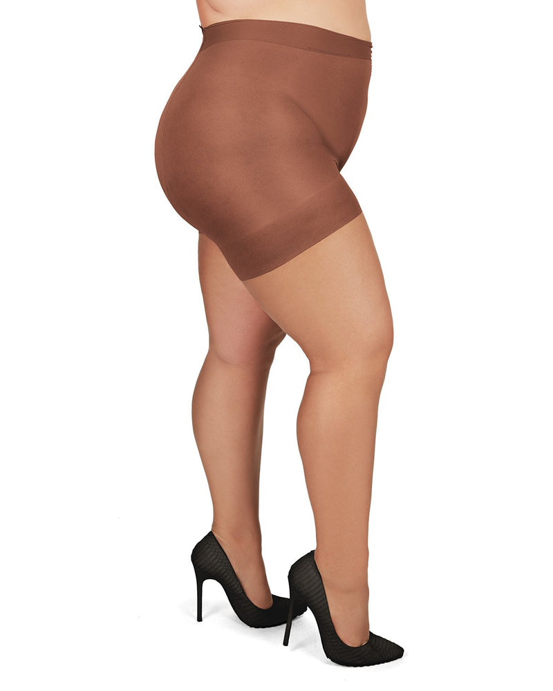 Plus Size Curvy Ultra Sheer Control Top Pantyhose
