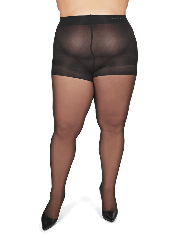 All Day Plus Size Curvy Sheer Control Top Pantyhose