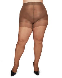 Energizing Plus Size Curvy Control Top Pantyhose