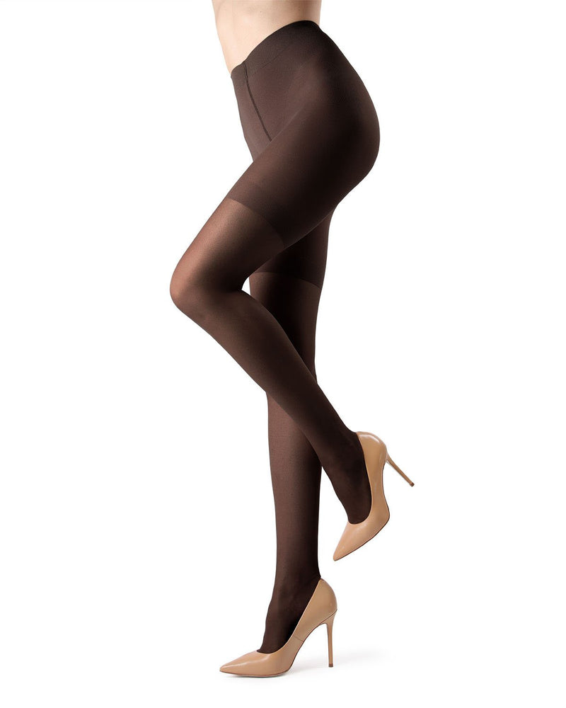 MeMoi High Waisted Body Slimming Tights | Women's Best Control Top Shaping Tights | Hosiery - Pantyhose - Nylons | Black MM-228