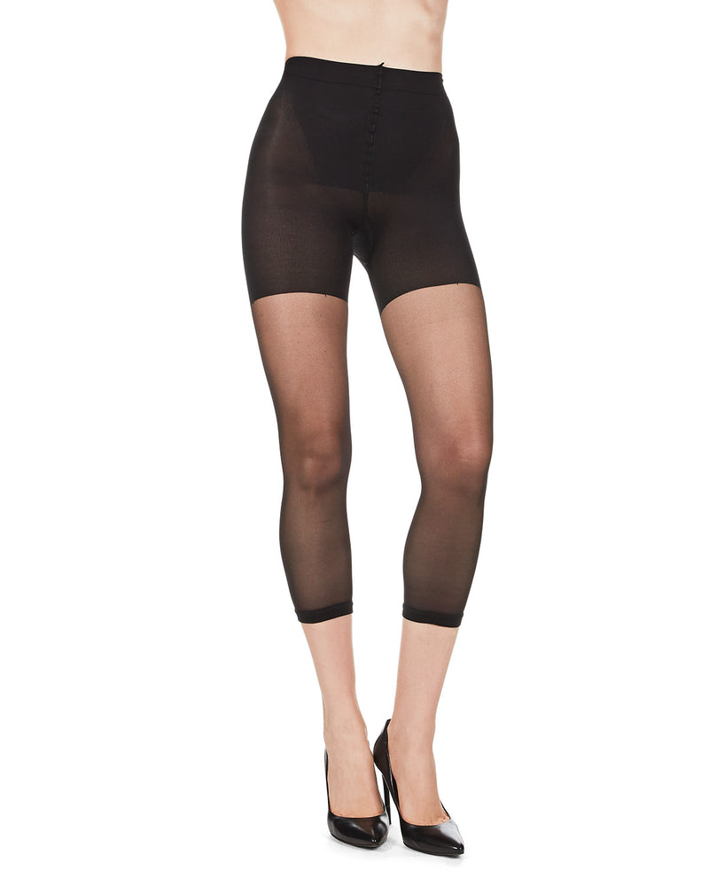 Sheer Footless Capri Shaper Tights