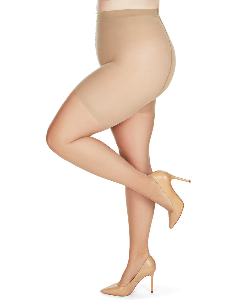 MeMoi Energizing Light Support Control Top Pantyhose