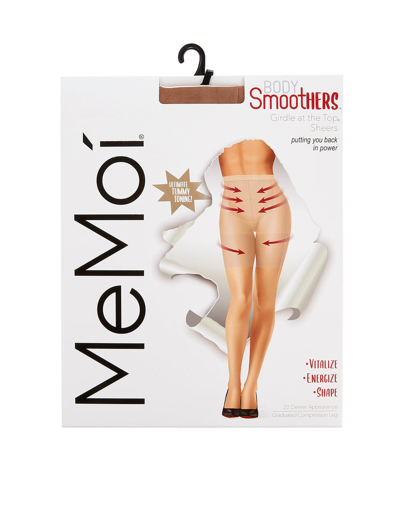 Girdle-at-the-Top Sheers | BodySmootHers Compression Tights by MeMoi | Honey MM-286