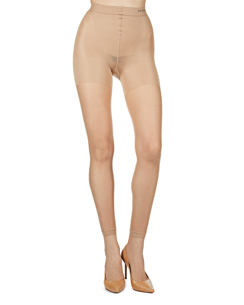 Footless Shaper Sheers | BodySmootHers Compression Tights by MeMoi | Shapewear Tights MM-291 | Nude