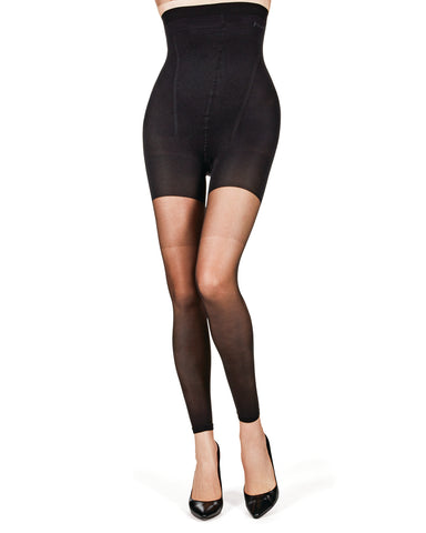 High Waisted Shaper Footless Sheer Tights | BodySmootHers by MeMoi | Shapewear Tights MM-292