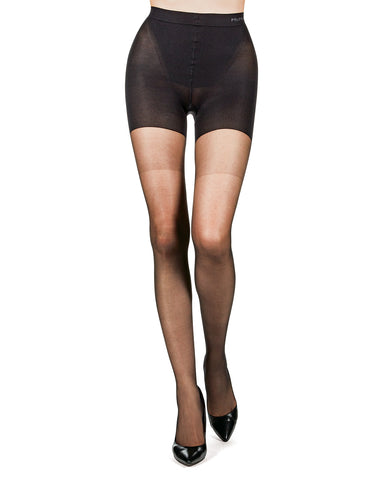 Super Shaper Sheer Tights | BodySmootHers Tights by MeMoi® | Shapewear Tights MM-293 Black