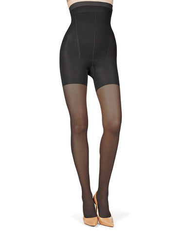 High Waisted Shaper Sheer Tights | BodySmootHers by MeMoi® | Shapewear Tights MM-294 Honey