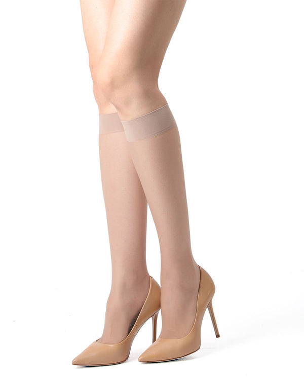 MeMoi Light Support Knee High Stockings | Women's Best Support Tights | Hosiery - Pantyhose - Nylons | Nude MM-440