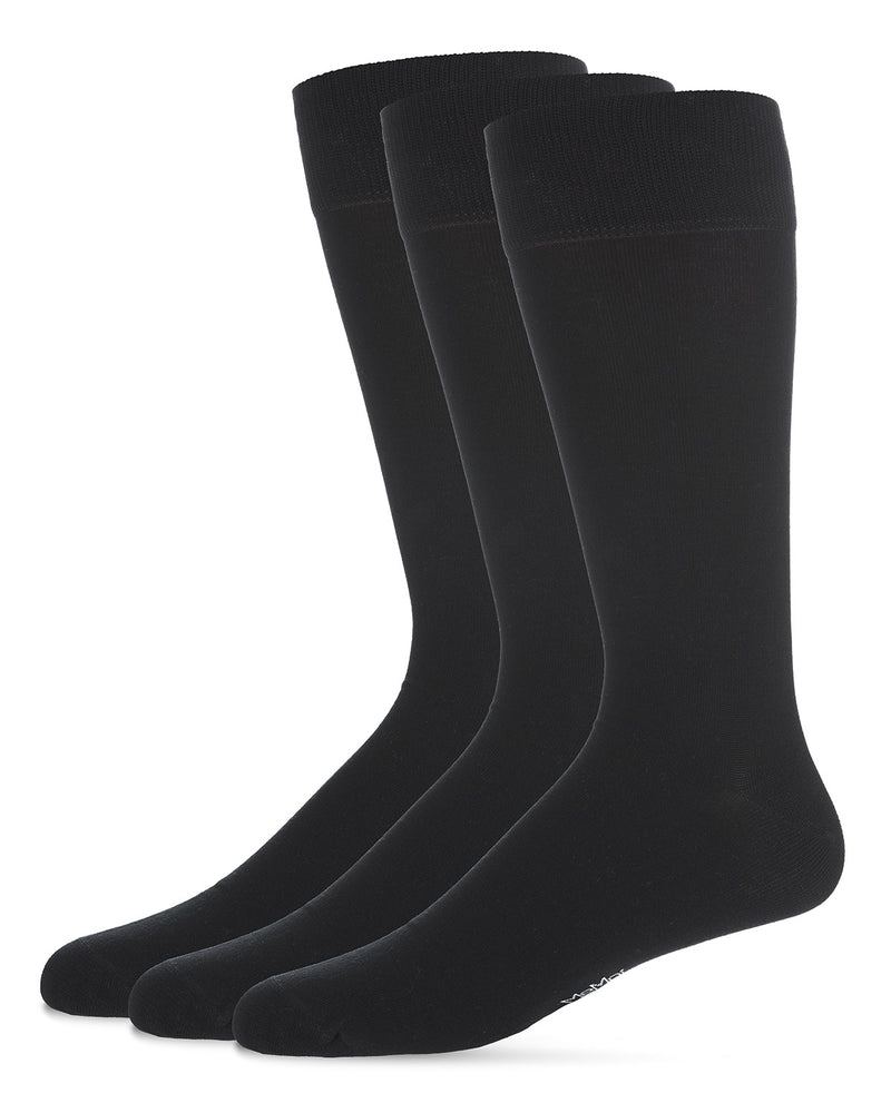 Flat Knit 3PP Mens Mercerized Cotton Socks