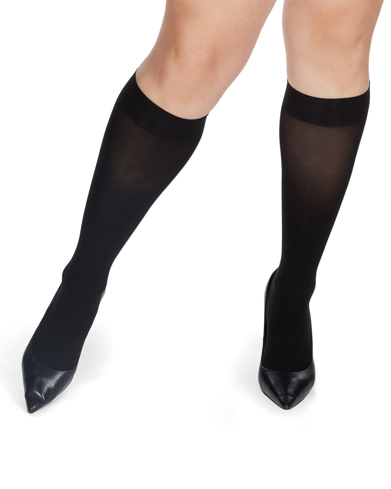 Microfiber Opaque Knee High Stockings