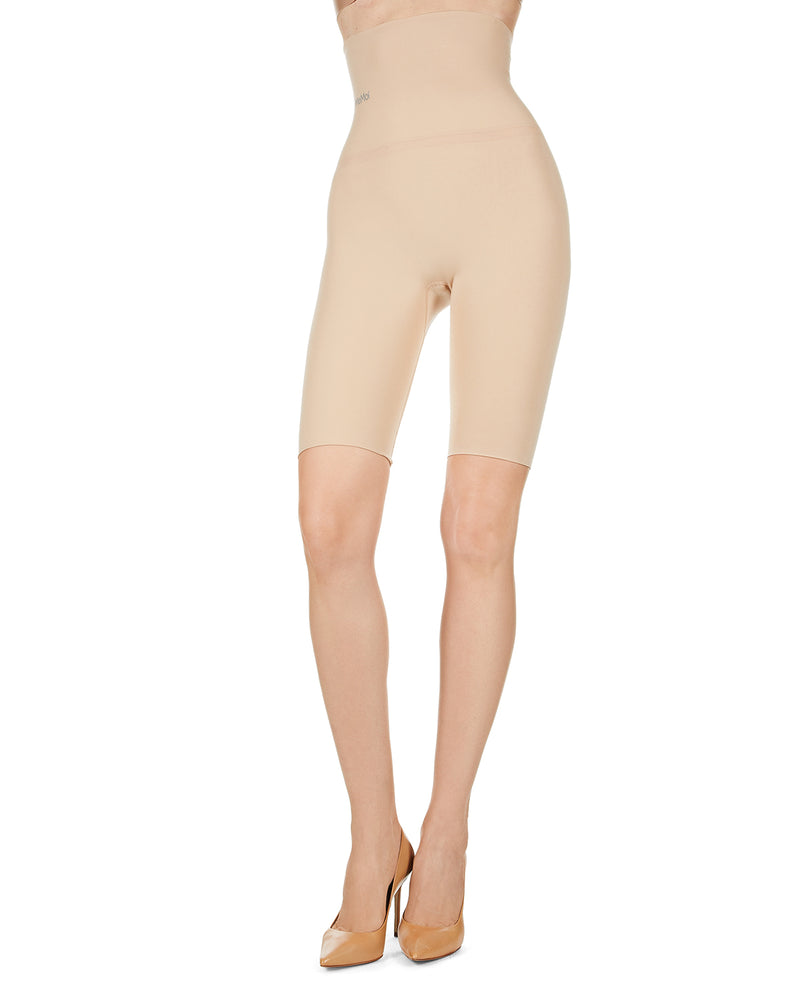 High Waisted Shaper Footless Sheer Tights | BodySmootHers by MeMoi |  Tights MM-516 Nude Shapewear