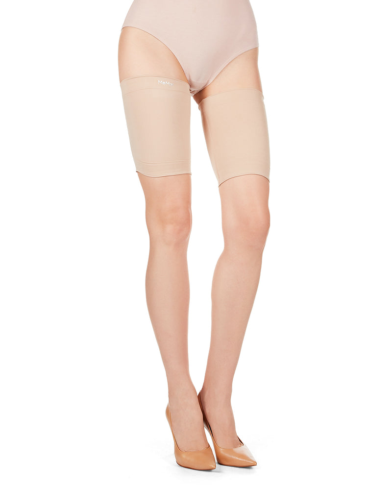 Anti Chafe Thigh Bands | BodySmootHers Shaper Bands by MeMoi | Thigh Shapewear MM-520 Tan