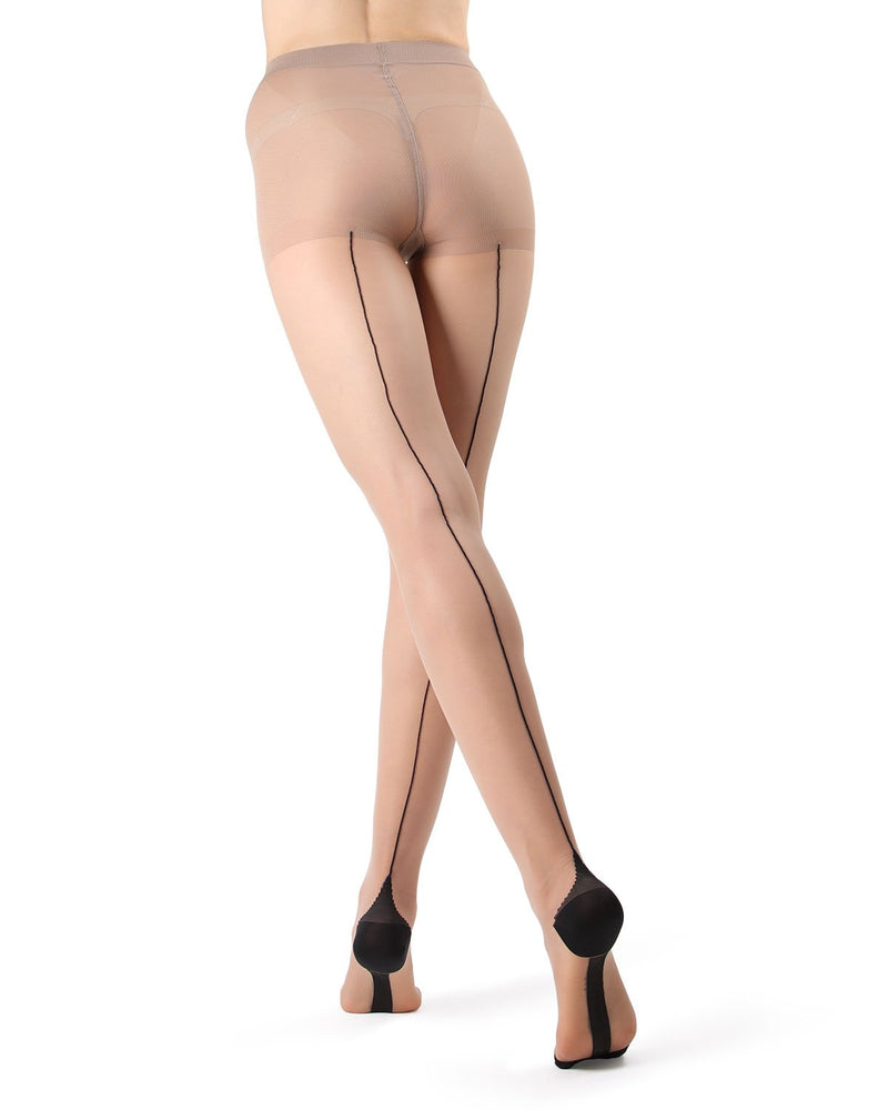 Control Top Pantyhose with Backseam & Cuban Heel