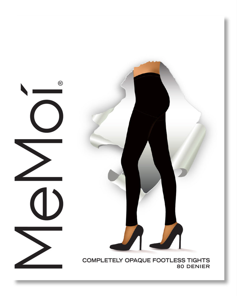 Completely Opaque Control Top Footless Tights