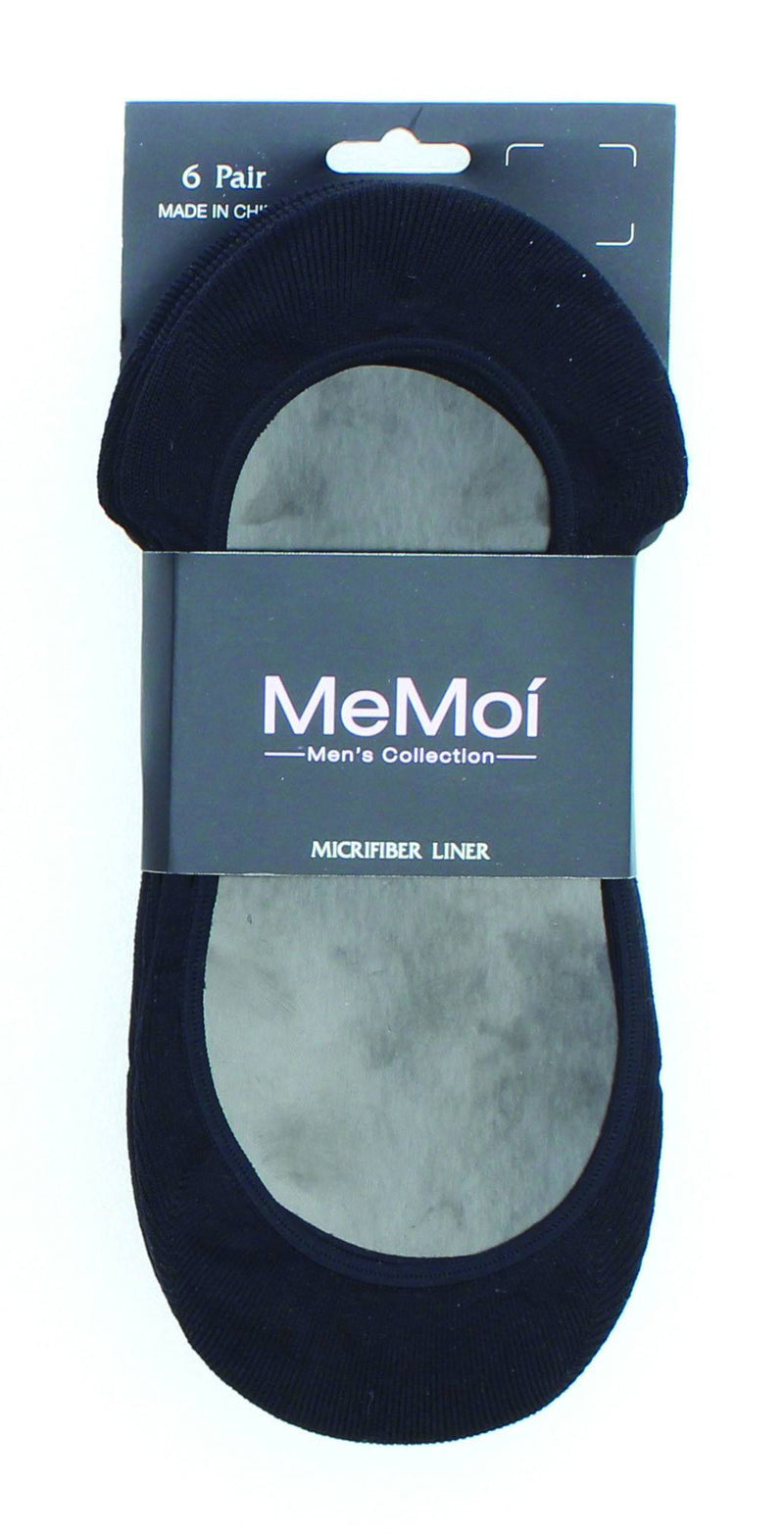 MeMoi Micro No-Show Socks Shoe Liners 6 Pack