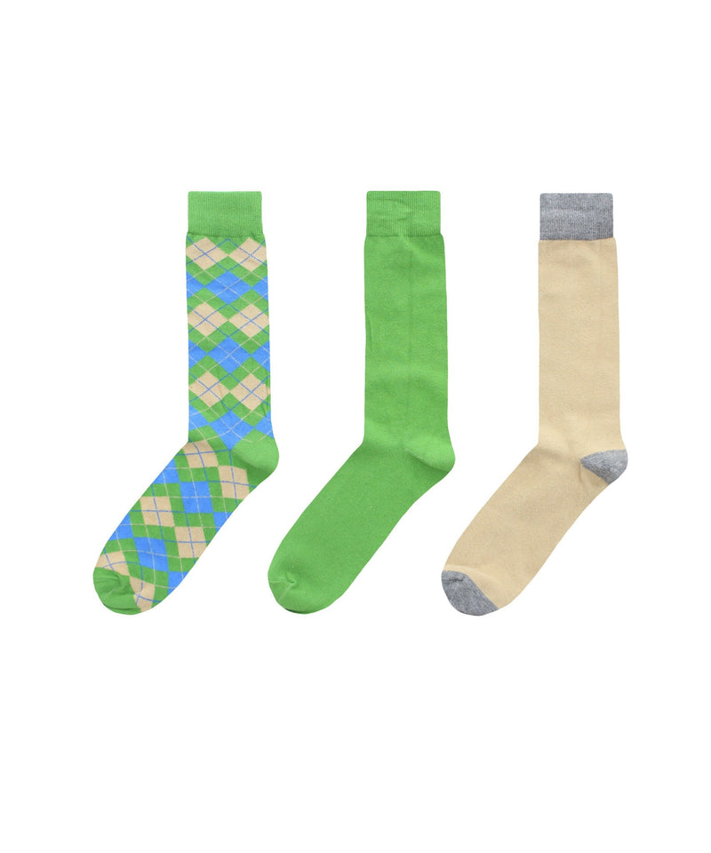 MeMoi Zag Twist Crew Sock 3 Pack