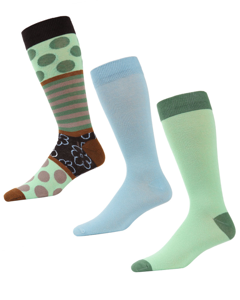 MeMoi Flowertrast Crew Sock 3 Pack