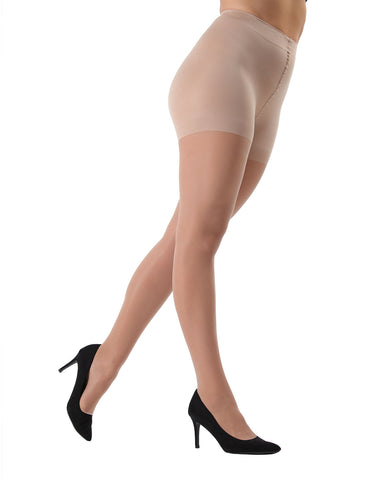 Sheer Full Support Pantyhose| womens sheer tights by MeMoi | womens clothing | Ms-620-honey