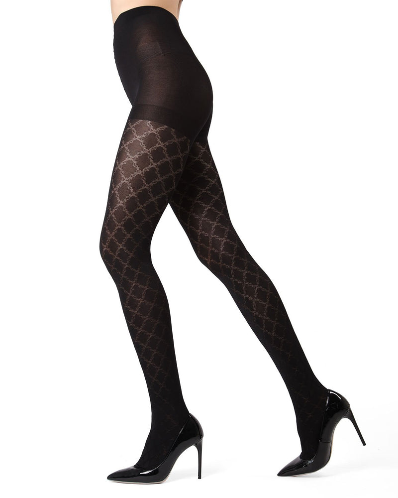 MeMoi Black Cloudpoint Tights | MeMoi Women's Tights - Hosiery - Pantyhose