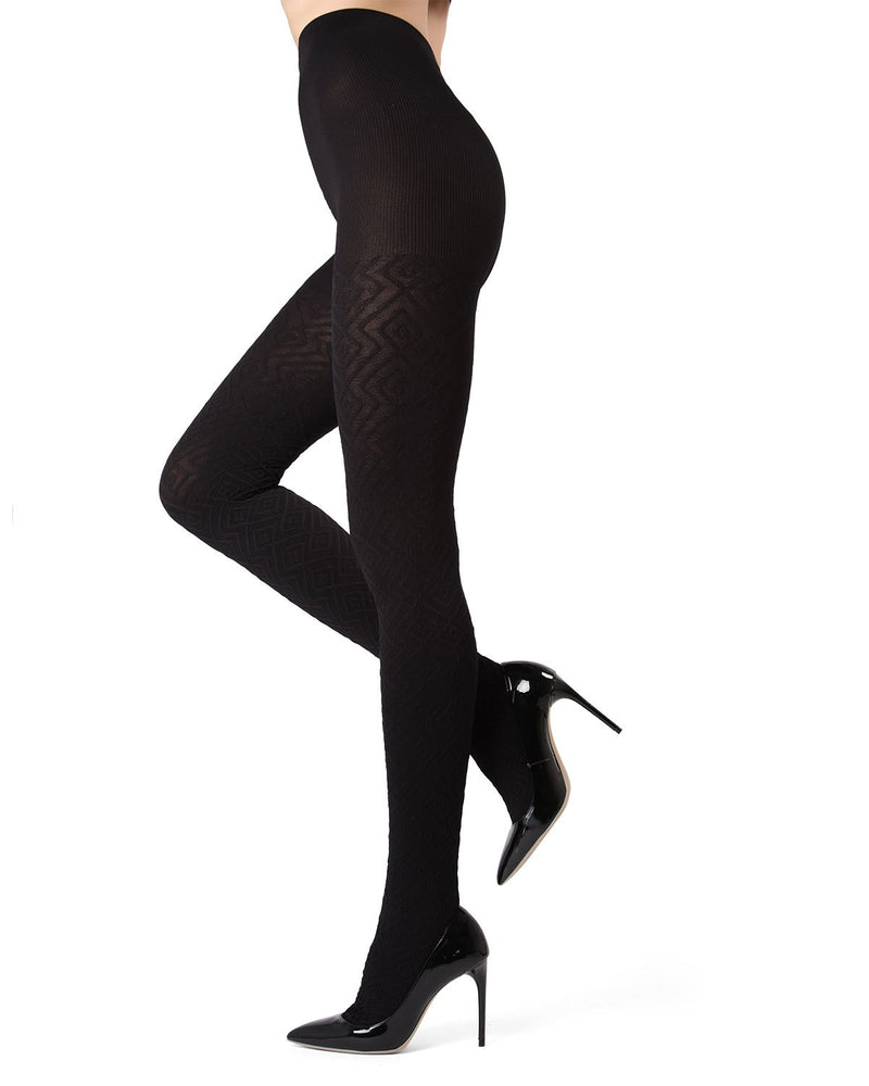 MeMoi Black Diamond Fill Tights | Women's Hosiery - Pantyhose - Nylons