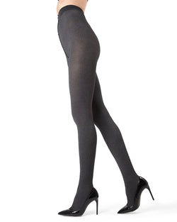 MeMoi Black Pin Rib Tights | Women's Tights - Hosiery - Pantyhose