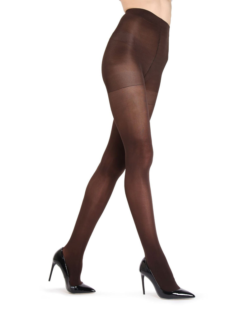 MeMoi Chocolate Gloss Opaque Tights | Women's Tights - Hosiery - Pantyhose