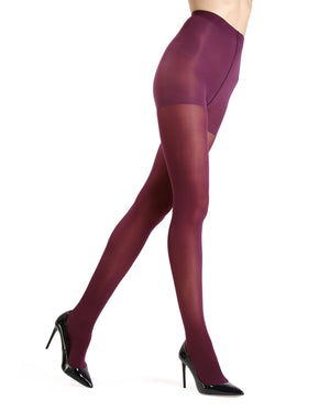 MeMoi Eggplant Gloss Opaque Tights | Women's Tights - Hosiery - Pantyhose