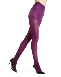 MeMoi Electric Violet Gloss Opaque Tights | Women's Tights - Hosiery - Pantyhose