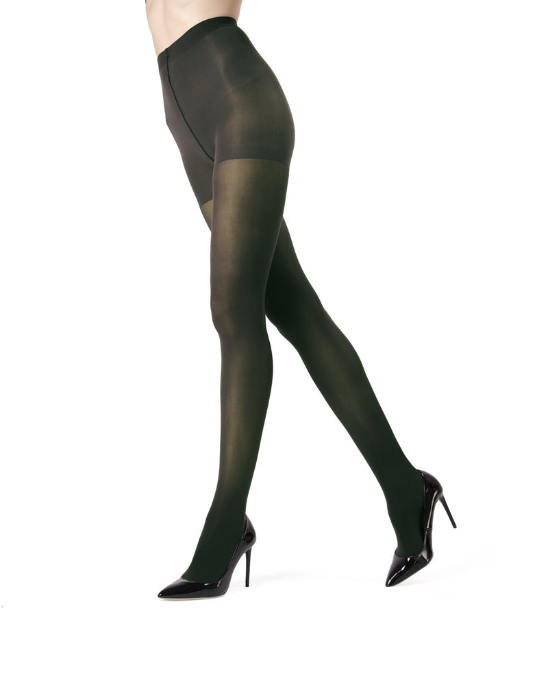 MeMoi | Pine Grove Perfectly Opaque Control Top Tights | Women's Tights - Pantyhose