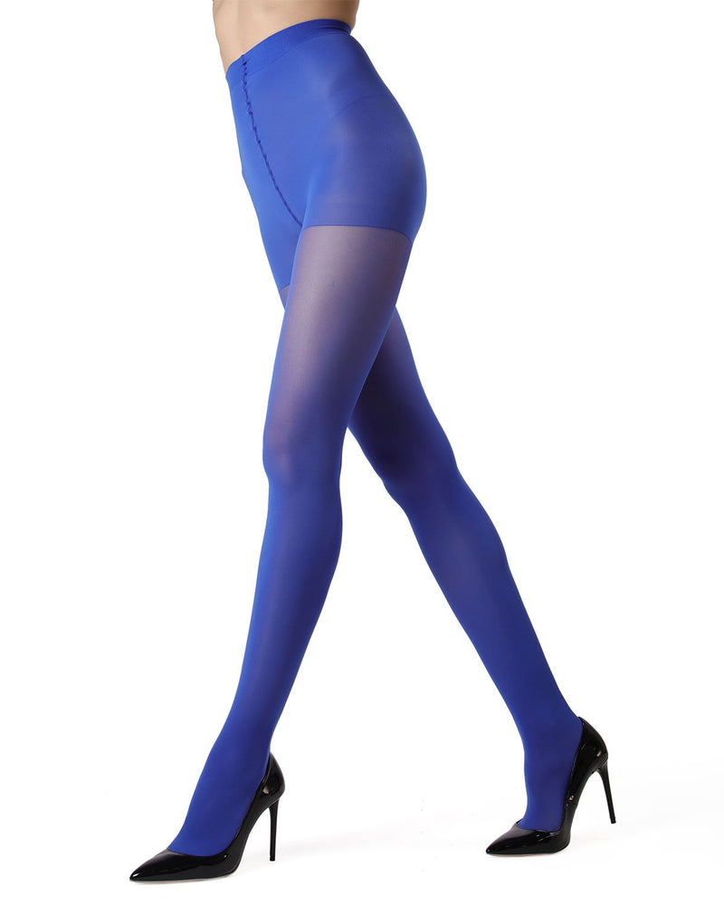 MeMoi | Surf the Web Perfectly Opaque Control Top Tights | Women's Tights - Pantyhose