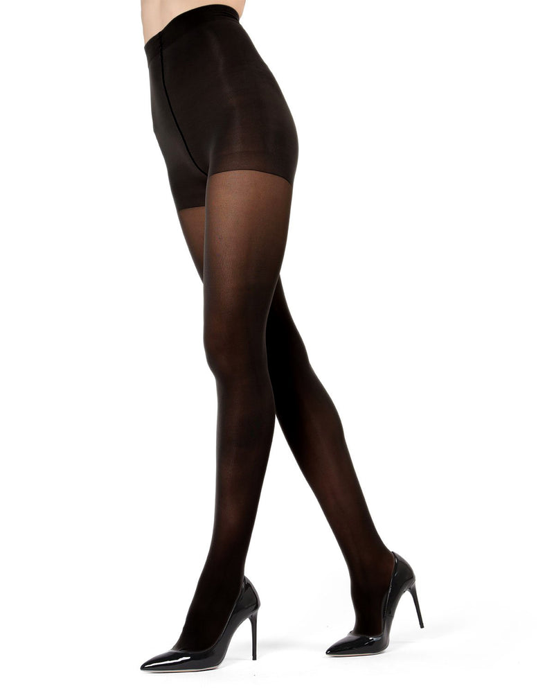 Perfectly Opaque Control Top Tights