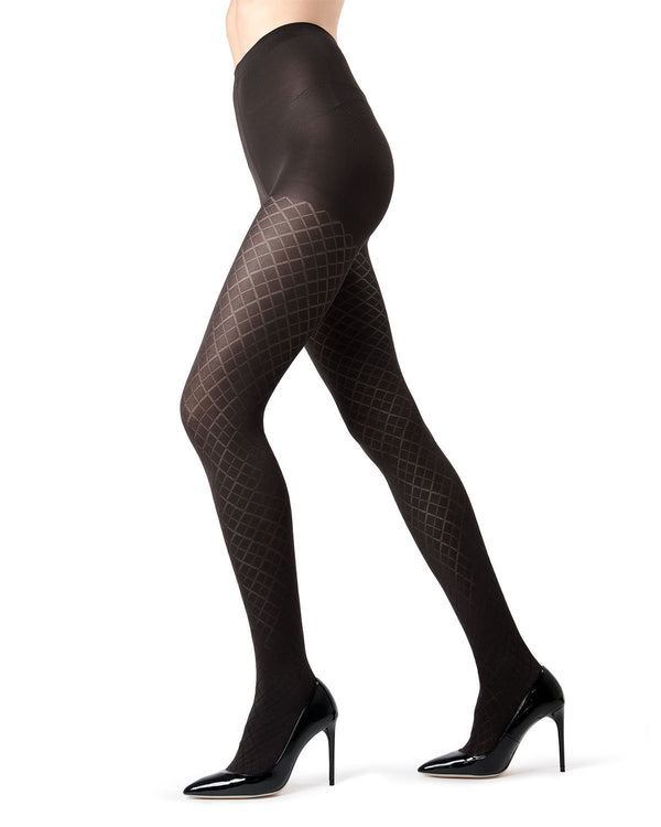 MeMoi | Black Diamond Argyle Tights | MeMoi Women's Tights - Hosiery