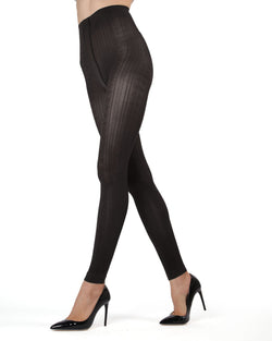 d37c76d2c MeMoi Black Textured Footless Tights | Women's Tights - Hosiery - Pantyhose