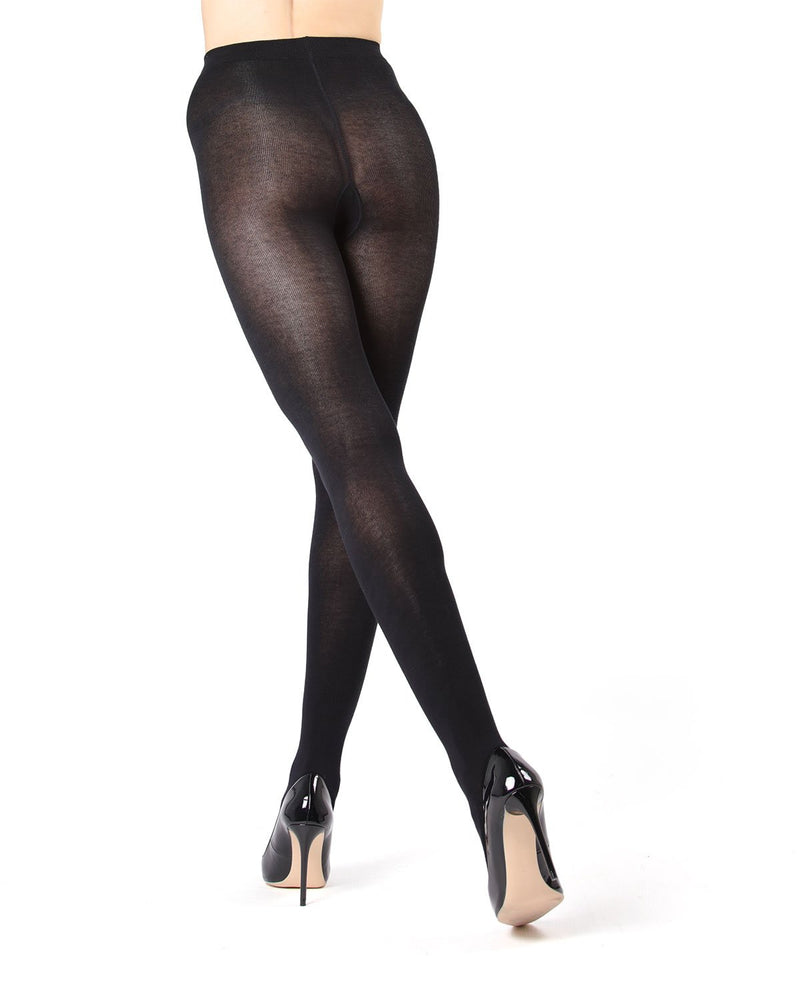 MeMoi Black (2) Brooklyn Basic Sweater Tights | Women's Hosiery - Pantyhose - Nylons