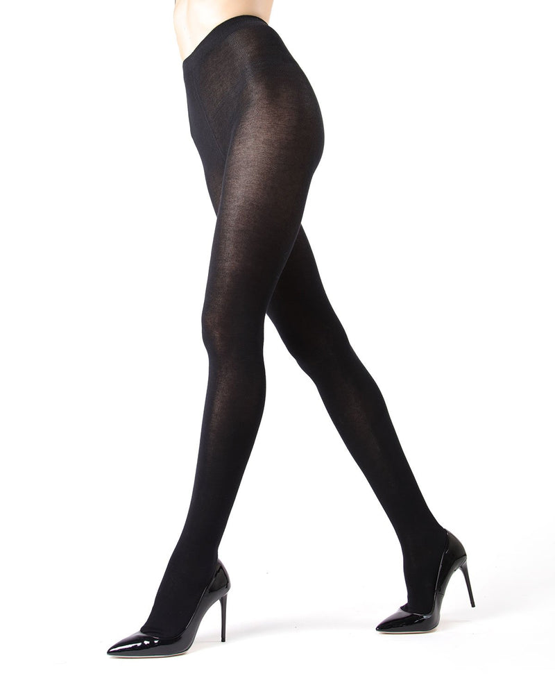 MeMoi Black Brooklyn Basic Sweater Tights | Women's Hosiery - Pantyhose - Nylons