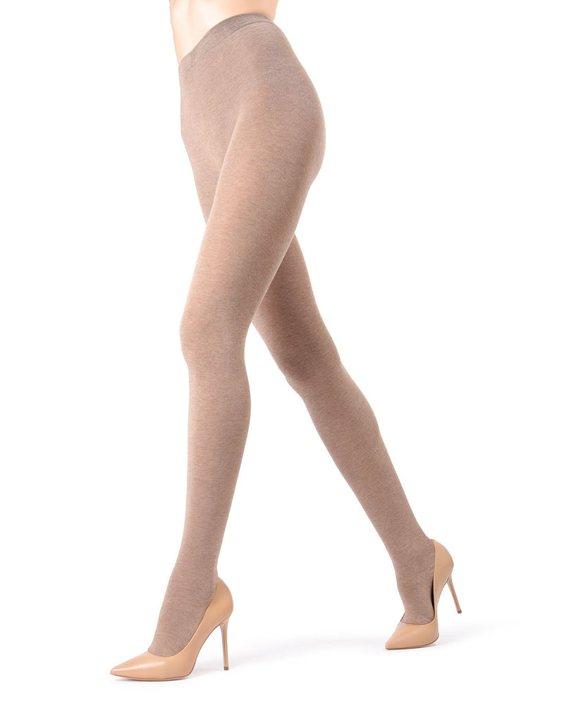 MeMoi Light Taupe Heather Brooklyn Basic Sweater Tights | Women's Hosiery - Pantyhose - Nylons