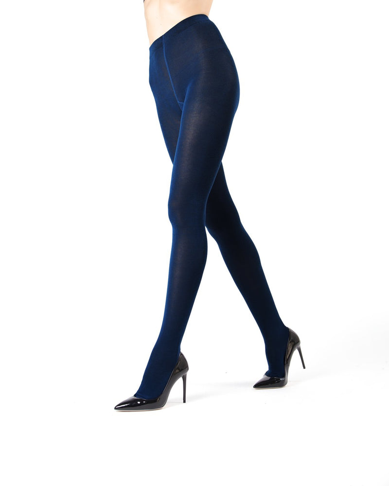 MeMoi  Navy Brooklyn Basic Sweater Tights | Women's Hosiery - Pantyhose - Nylons
