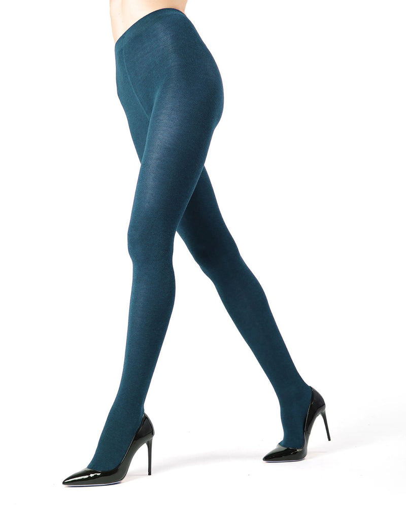 MeMoi Brooklyn Flat Knit Sweater Tights | Women's Luxury Cotton Sweater tights | Hosiery - Pantyhose - Nylons  | Royal Blue MO-325