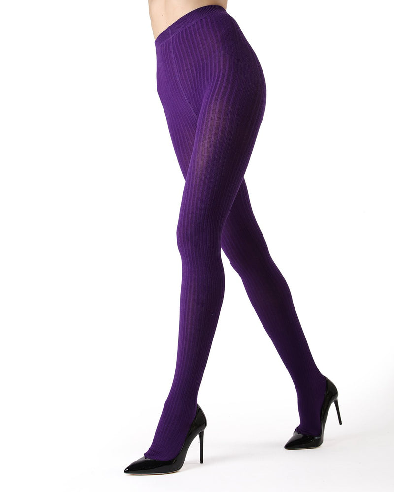 MeMoi Petunia Boston Ribbed Sweater Tights | Women's Winter / Autumn Hosiery - Pantyhose - Nylons