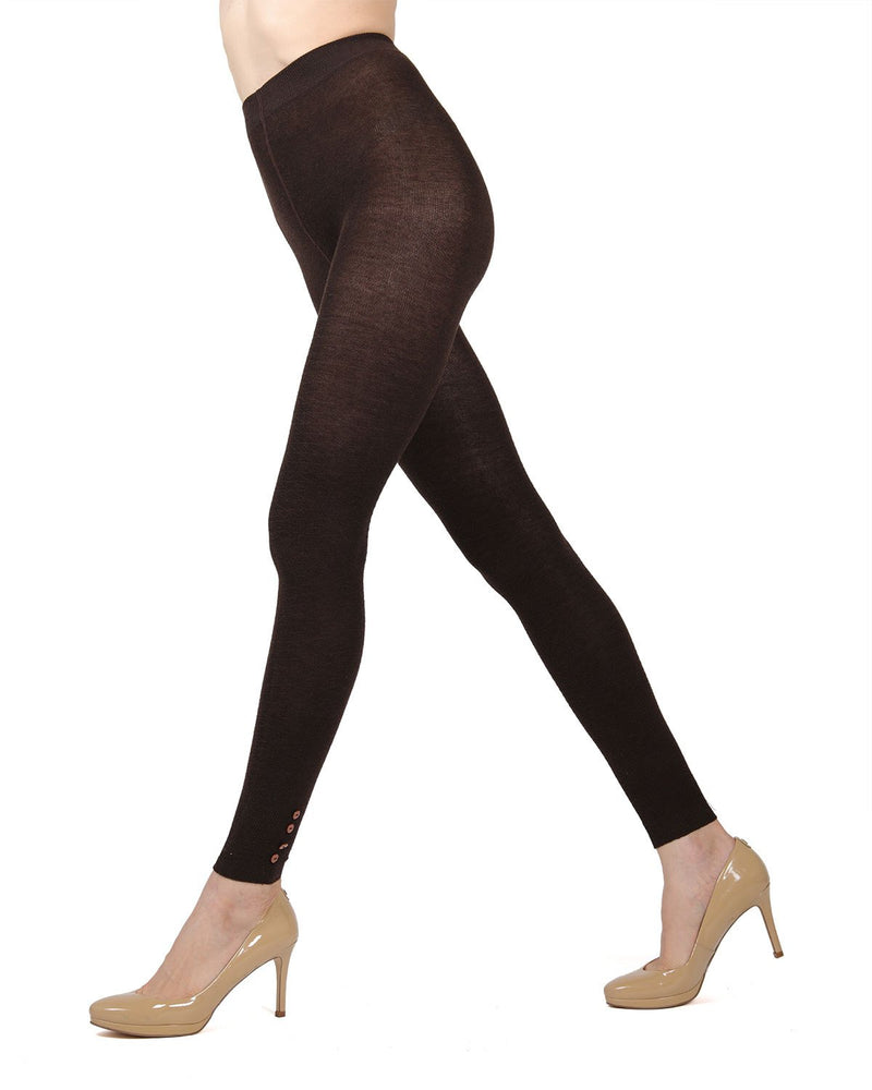 Memoi Chocolate Chip Del Buttoned Sweater Footless Tights | Women's Hosiery - Pantyhose - Nylons