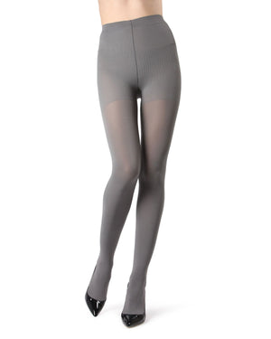 MeMoi | Gray Completely Opaque Control Top Tights | Women's Tights - Hosiery