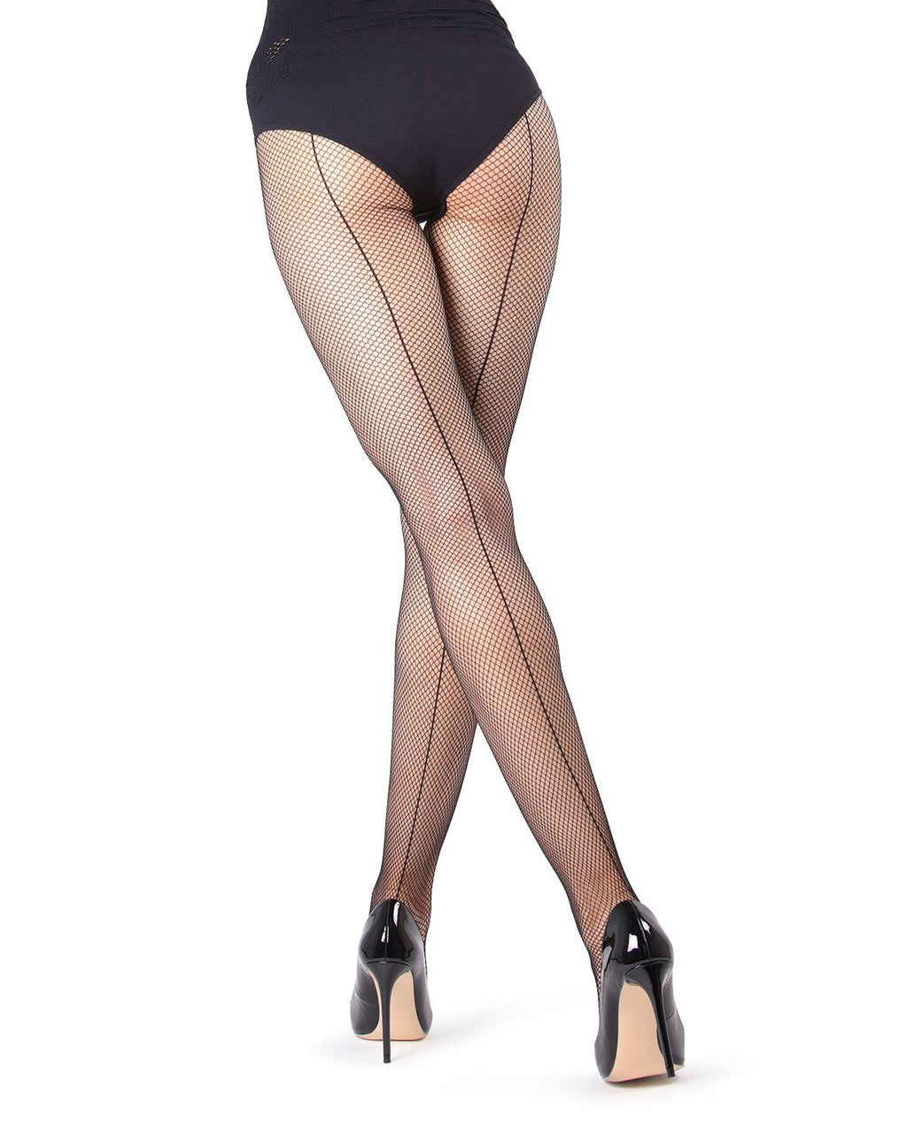 MeMoi | Black Backseam Fishnet Tights | Women's Tights