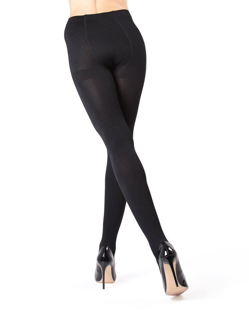 MeMoi | Black Plush Lined Tights (front view) | Women's Tights - Hosiery
